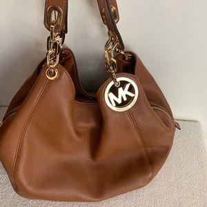 Handbags - Michael Kors Gold Chain Leather Handbag